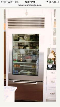 for the love of a house the glass door refrigerator pertaining to glass door fridge for kitchen Glass Door Fridge for Your Kitchen Decoration Glass Front Refrigerator, Glass Fridge, Undercounter Refrigerator, Mini Fridge, Glass Front Door, Sliding Glass Door, Glass Doors, Kitchen Design, Kitchen Decor