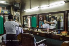 Mathi at work in the 65-year old saloon