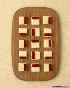 A sophisticated twist on cheese and crackers