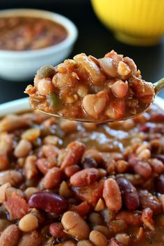 Crock Pot Multi Bean Soup - There are 15 different types of beans in this soup. It's loaded with beans of every kind and loaded with fiber and potassium!