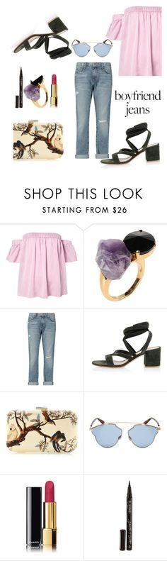 """""""Untitled #68"""" by petra0710 ❤ liked on Polyvore featuring Milly, Marni, Current/Elliott, Gianvito Rossi, Silvia Furmanovich, Christian Dior, Chanel and Smith & Cult"""
