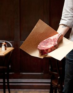 "manchannel: ""One glorious steak. "" Beef It's What's For Dinner Carnicerias Ideas, Café Bistro, Meat Shop, Steaks, Le Chef, Food Design, Food Preparation, Raw Food Recipes, Food Styling"