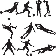 Vectores libres de derechos: Soccer Silhouette Collection