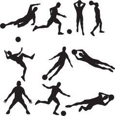 Vectores libres de derechos: Soccer Silhouette Collection
