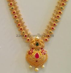 CZ Long Set with Pretty Locket - Jewellery Designs