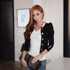 Available Now on our store:  Casual Slim Suit ... Check it out here ! http://mamirsexpress.com/products/casual-slim-suit-button-blazer-top-ladies-jacket-coat-outwear?utm_campaign=social_autopilot&utm_source=pin&utm_medium=pin