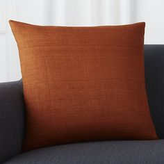 Sale ends soon. Shop Michaela Cayenne Pillow with Down-Alternative Insert. Textural, hand-spun silk in spicy orange creates a touchable, down-to-earth pillow with high-impact style. Floral Pillows, Decorative Throw Pillows, Linen Bedding, Bedding Sets, Bed Linens, Crib Sets, Linen Pillows, Pillow Arrangement, Living Room Grey