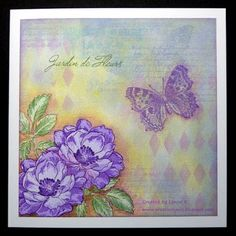 Beautiful Day: Altenew, stamping, masking, then sponging, partial stamping (bg), adding color and shading around images, flower sketch, Creative Lynks
