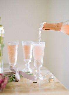 St. Germain Rosé cocktail. (Just 2 ingredients -- EASY!)