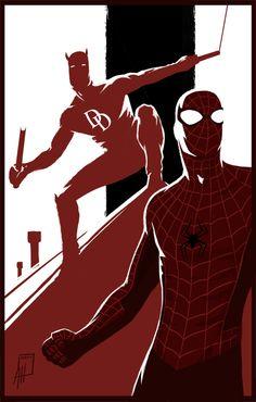 Spider-Man Daredevil Teamup by deralbi.deviantart.com on @DeviantArt