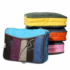 From 14.97: Easy To Organise 4-colour Packing Cubes With 2 Pockets- Lightweight Organisers For Suitcase Backpack Rucksack And Other Luggage - Quality Travel Organiser Accessories By Ow-travel (4 Medium Multicolour)