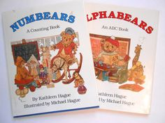 Alphabears and Numbears Two Vintage ABC and by lizandjaybooksnmore