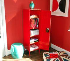 The big red locker useful playroom storage