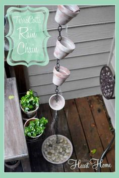 Beautiful terra cotta rain chain