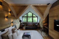 Cosy cabin style room in a 5 star luxury mountain hotel