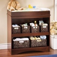 Love the baskets. Changing table