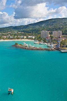 Ocho Rios, Jamaica- Very pretty island and very friendly people. Lots of beautiful waterfalls to see. Check out Dunns River Falls. Very pretty area but it is a tourist trap! Go there for the scenery, but know that they are going to try to sell you whatever they can...