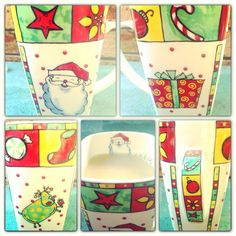 Some mugs are just fun! This one makes me feel happy :-). Feeling Happy, Good Morning, Merry Christmas, In This Moment, Mugs, Drink, Feelings, How To Make, Buen Dia
