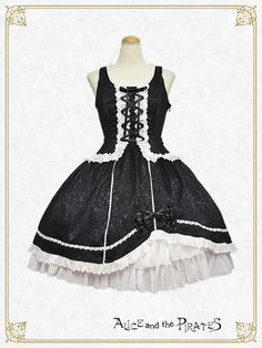 Alice and the Pirates Rose back ribbon jumper skirt 2016