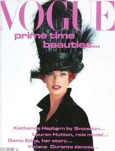 Linda Evangelista by Patrick Demarchelier, Vogue UK October 1991