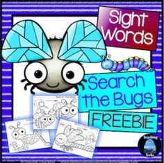 FREE Sight Words: Search the Bugs Freebie has 3 fun and engaging printables to help children learn to recognise words.