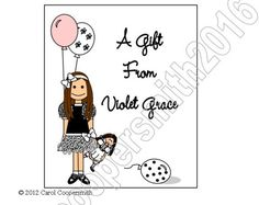 Party Girl Personalized Gift Enclosure Cards - Set of 10 - Brunette, Blonde, Black Hair, Auburn, African American