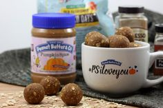 PSL (Pumpkin Spice Latte) Power Balls featuring our rolled oats and @PeanutButterCo's NEW Pumpkin Spice Peanut Butter (which is amazing, btw) from A Whisk and Two Wands
