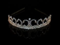 tiaras | Crystal & Diamante Scroll design Tiara