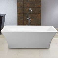 """$1199 Draque Freestanding Acrylic Tub - 66-3/8"""" L x 29-1/4"""" W (front to back) x 22-3/8"""" H (± 1/2"""")"""