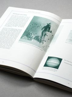 Science Poems book with green tinted images designed by Åh Studio. #Print #TintedImages #Design