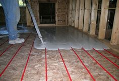 Radiant Pex In Floor Heat Tubing Layout In Cement Slab