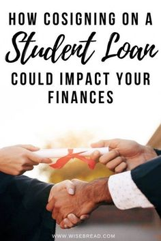 Cosigning on a student loan can be a huge risk. Here's everything you need to know how cosigning on your students college loan can impact your personal finances. | #finances #personalfinance #studentdebt Federal Student Loans, Paying Off Student Loans, Student Loan Debt, College Loans, Online College, Student Loan Repayment, Online Degree Programs, Student Loan Forgiveness, Planning Budget