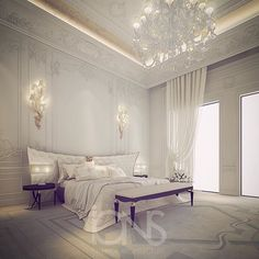 Master bedroom design - Private Villa - Dubai - UAE