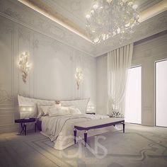 Master bedroom design - Private Villa - Dubai - UAE