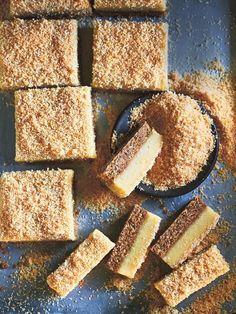 Lemon and macadamia slice - Donna Hay 13 Desserts, Delicious Desserts, Dessert Recipes, Yummy Food, Lemon Recipes, Baking Recipes, Sweet Recipes, Donna Hay Recipes Baking, Veggie Recipes