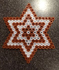 Hama bead perles - Ginger Bread Star