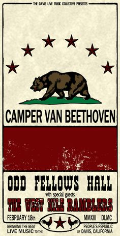 Camper Van Beethoven | Feb 18 | Davis, CA | #bands #music