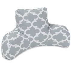 Grey Reading Pillow with an awesome Victorian era inspired Trellis design.  Very classy, and nice colors that match with anything.  #readingpillow #pillows #grey http://www.readingpillowsplus.com/products/reading-pillow-grey-trellis