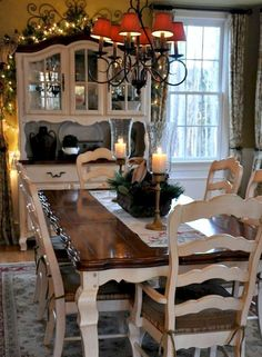 Beautiful French Country Dining Room Ideas (24)