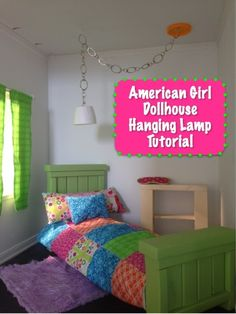 DIY American Girl Doll Hanging Lamp Tutorial