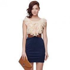 Bqueen Flounced Dress BY251E