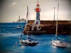 Saint Servan, Pop Art, Isabelle, Art Original, France, Oeuvre D'art, Sailing Ships, Boat, Abstract Backgrounds