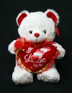 "Valentine's Teddy Bear (15"") Says ""I LOVE YOU"" When Its Paw is Pressed - Best Valentine's Day Gifts: Valentines Day Gifts for Her, Valentines Day Gifts for Him, Valentines Day Gifts for Girlfriend, Valentines Day Gifts for Boyfriend, Valentines Day Gifts for Men, Valentines Day Gifts for Husband, Valentines Day Gifts for Wife, Valentines Day Gifts for Women UltimateGifts http://www.amazon.com/dp/B00HLAGE0C/ref=cm_sw_r_pi_dp_239Uub0JP1S4M"