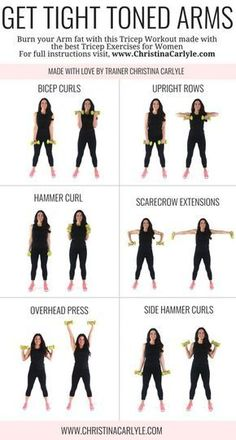 I designed this workout to help you tighten and tone your arms while burning fat and avoiding bulk.