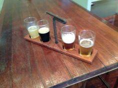 Craft beer tasting paddle