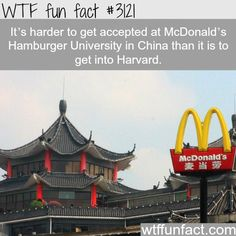 McDonald's Hamburger University in China -  WTF fun facts