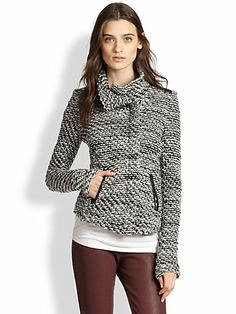 Iro - French brand. It looks like tweed but it's a sweater