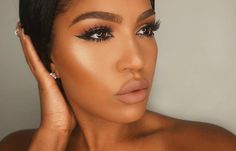 high beam liquid highlighter so Hollywood highlight liquid eyeliner foundation 07 bronzer Mars lipstick by makeupshayla Flawless Makeup, Glam Makeup, Gorgeous Makeup, Beauty Makeup, Hair Makeup, Makeup Shayla, Beauty Tips, Nude Makeup, Flawless Beauty