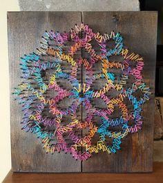 Flor cadena arte por RandomActsofWood en Etsy