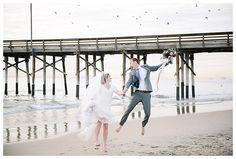 Candid of wedding day on beach | Newport Beach | Orange County | Brooke Bakken Wedding Photgrapher